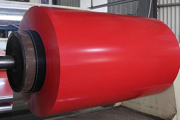 lamina de aluminio color rojo