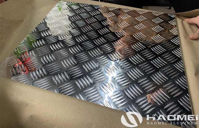 lámina de aluminio antiderrapante para piso de camión