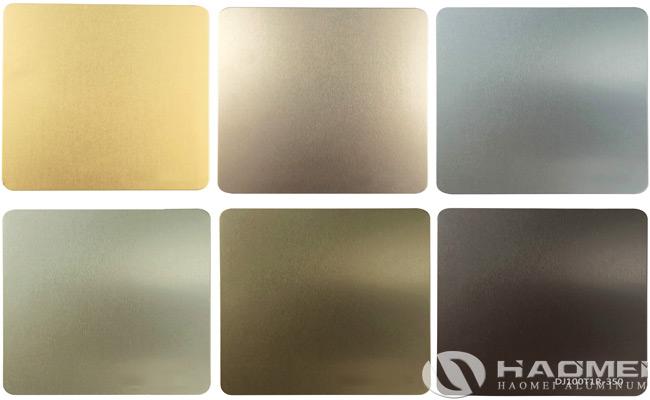 placa de aluminio anodizada