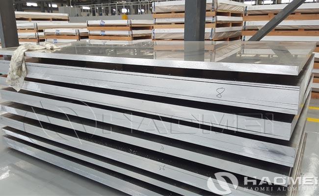 chapa de aluminio marino grado