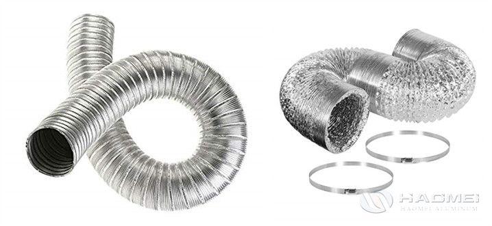 Tira de aluminio para conducto de aire flexible