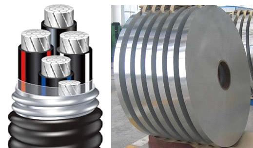tiras de aluminio para cable