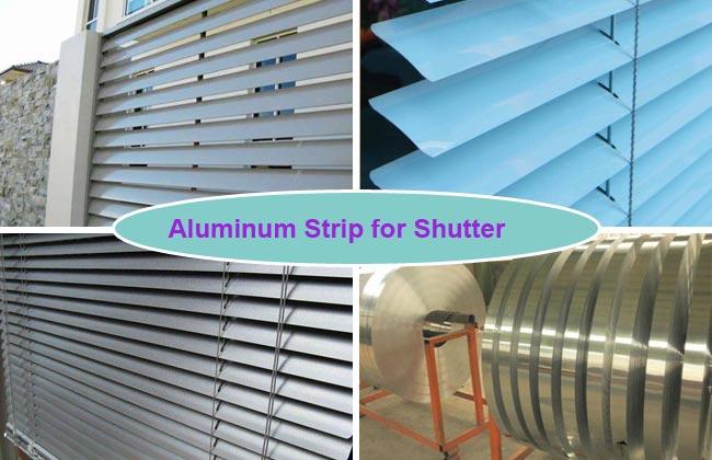 tiras de aluminio para obturador