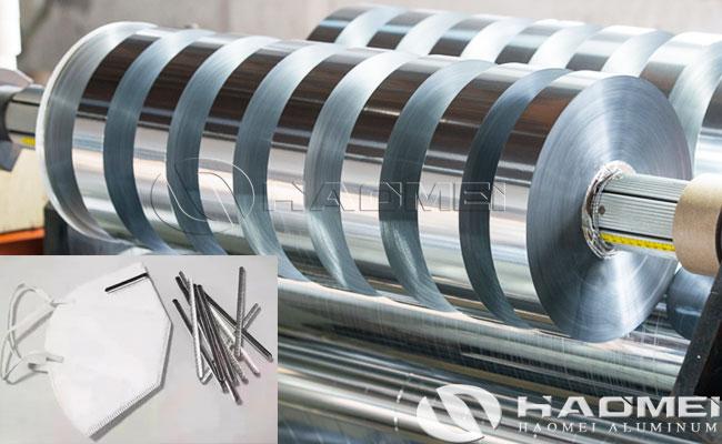 tira de aluminio para mascarilla