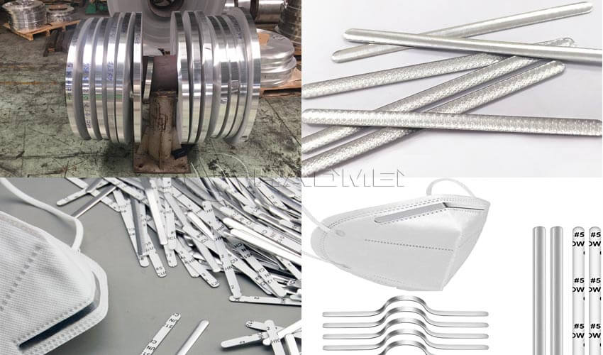 tiras de aluminio para mascarilla