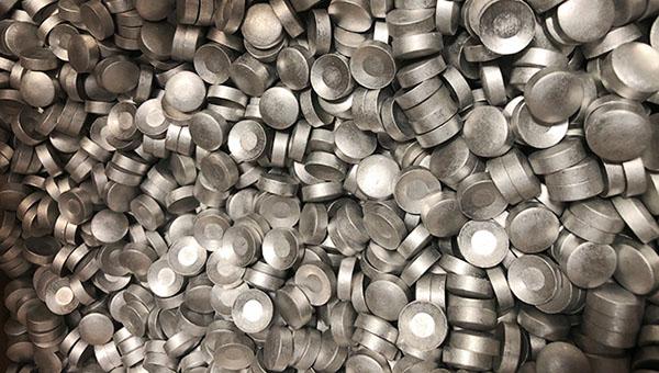 pastilla de aluminio