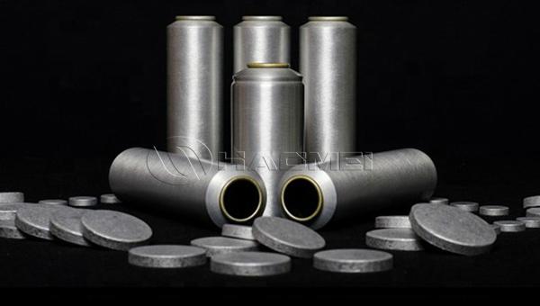 pastilla de aluminio para latas de aerosol