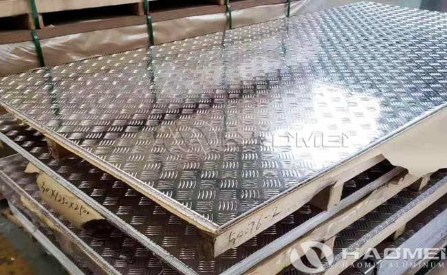 5 barra lamina de aluminio antiderrapante